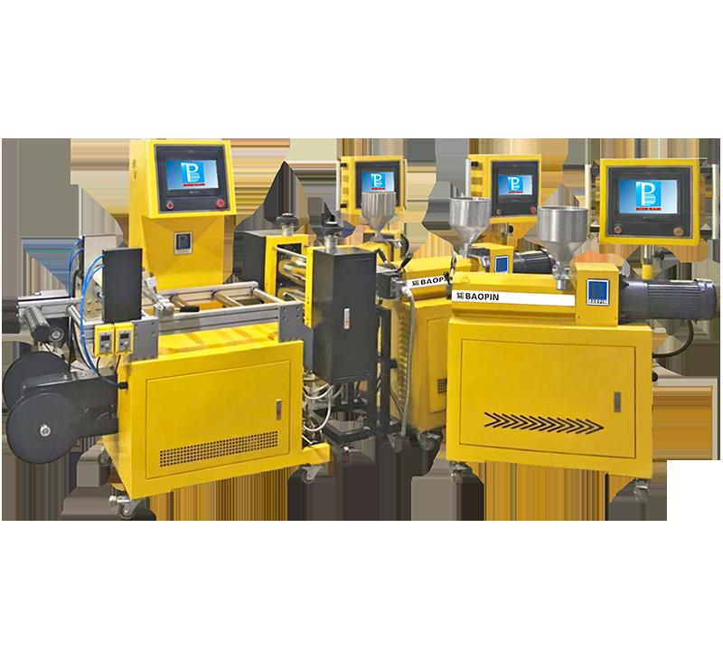 实验用流延薄膜机/3层共挤/PLC型