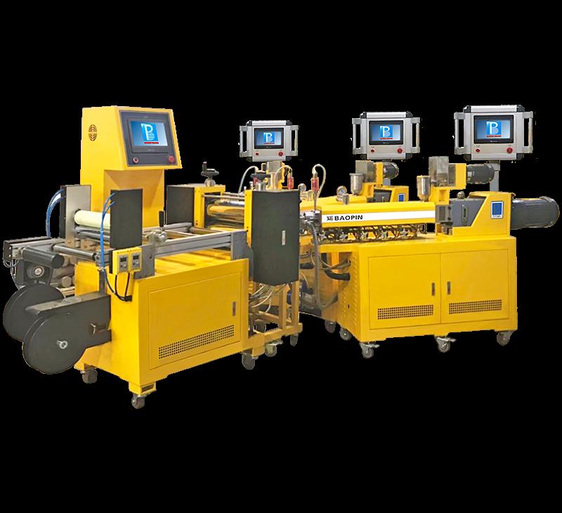 实验用流延薄膜机/ 3层共挤/PLC型